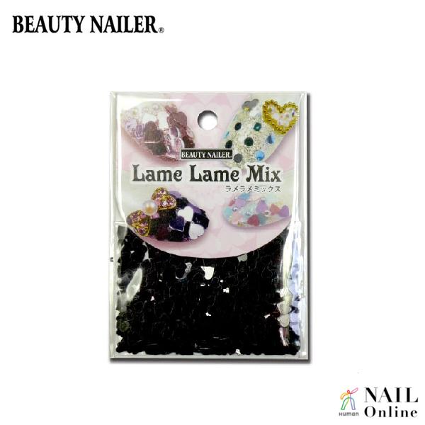 【BEAUTY NAILER】 ラメラメミックス LLM-3 ブラックハート