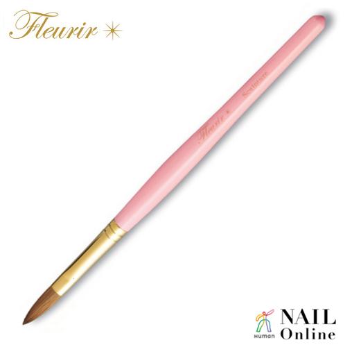 【Fleurir】 スカルプチュアブラシ(キャップ付) ピンク