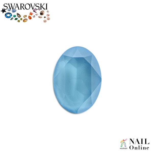 【SWAROVSKI】 #4120 オーバル型 クリスタルサマーブルー 14×10mm 1P