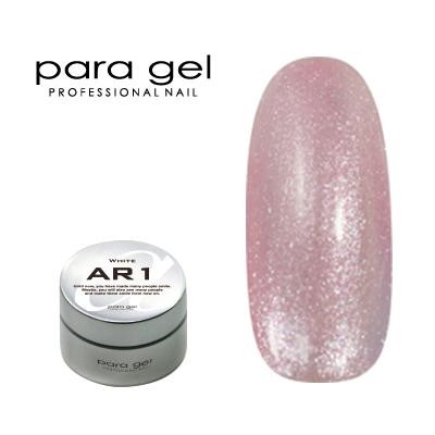 【para gel】 AG7 アートカラージェル 4g <パール・シアー・グリッター> ピンクシャンパン