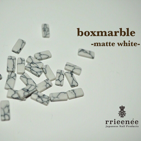 【Bonnail×RieNofuji】 boxmarble マットホワイト 12P