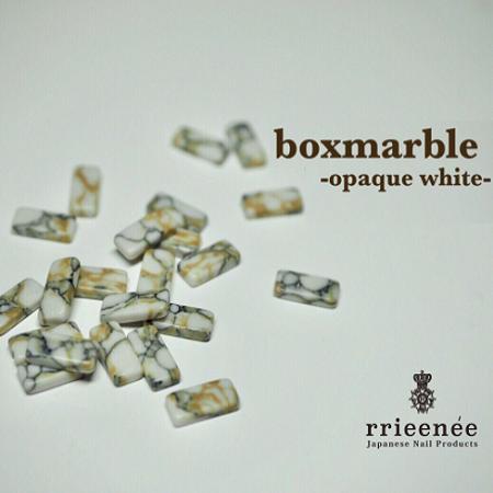 【Bonnail×RieNofuji】 boxmarble オペークホワイト 12P