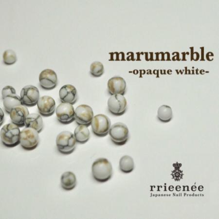 【Bonnail×RieNofuji】 marumarble オペークホワイト 4mm 12P