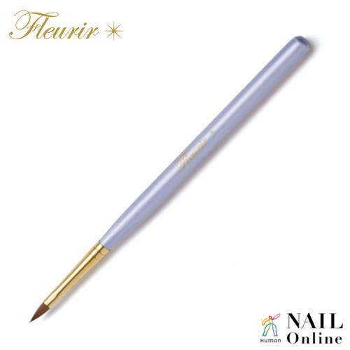 【Fleurir】 デザインスカルプチュアブラシ (キャップ付) パープル