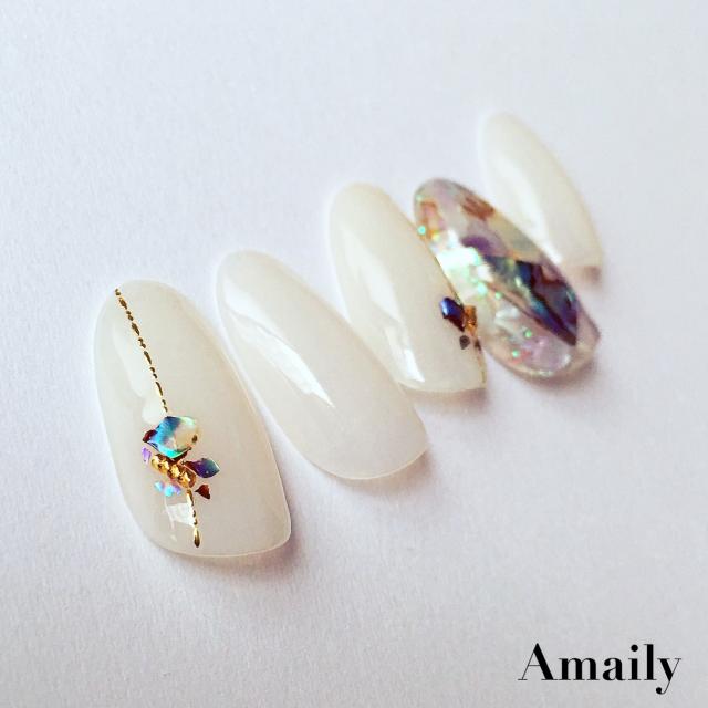 【Amaily】 ネイルシール No.5-19 飾りライン ゴールド