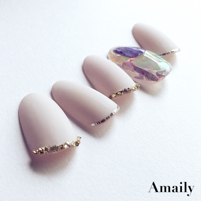 【Amaily】 ネイルシール No.5-20 飾りライン シルバー