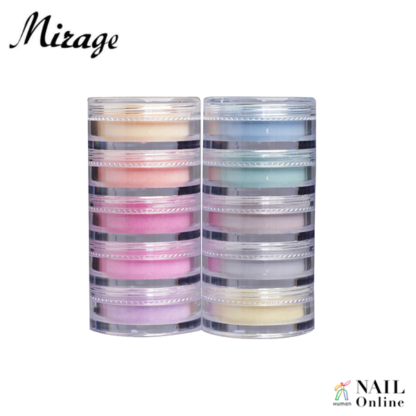 【Mirage】 カラーパウダー  3.5g×10色セット N/AGS(天然石カラーセット第2弾)