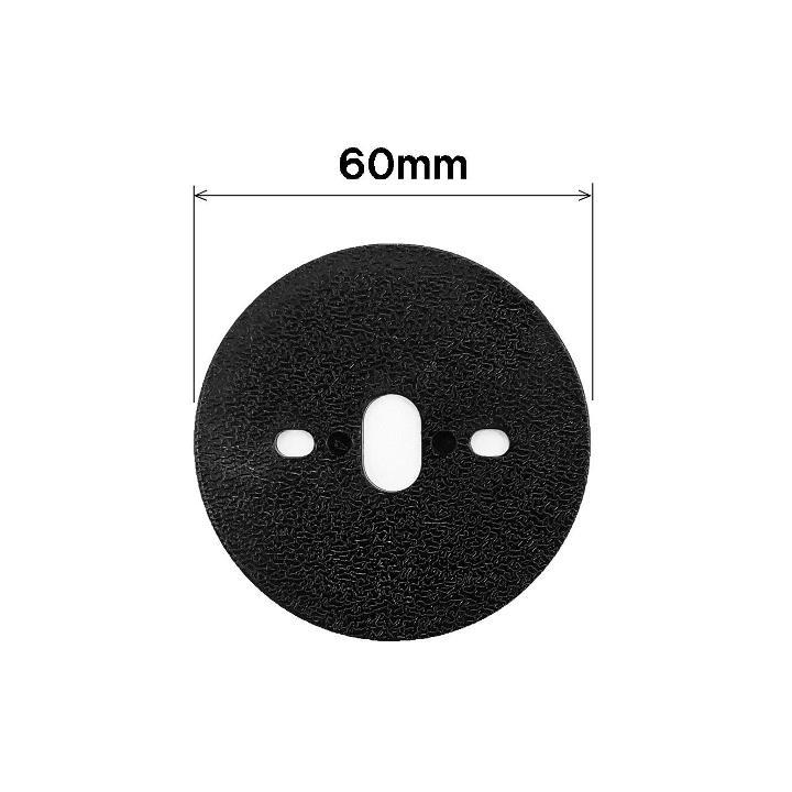 防草シート用平型ワッシャー(黒)<100枚セット>(NO.7202PWF)