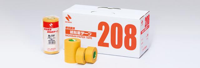 ニチバン No208 紙粘着テープ 12X18 100巻