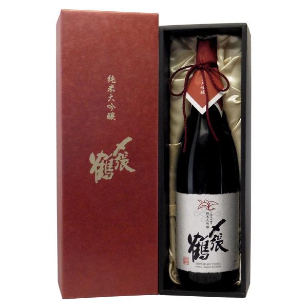 〆張鶴 RED LABEL 純米大吟醸 新潟県宮尾酒造 1800ml