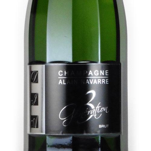 ジェネラシオン トロワ アラン・ナヴァール フランス シャンパーニュ 白ワイン 750ml