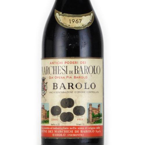 バローロ 1967 マルケージ・バローロ イタリア ピエモンテ 赤ワイン 750ml