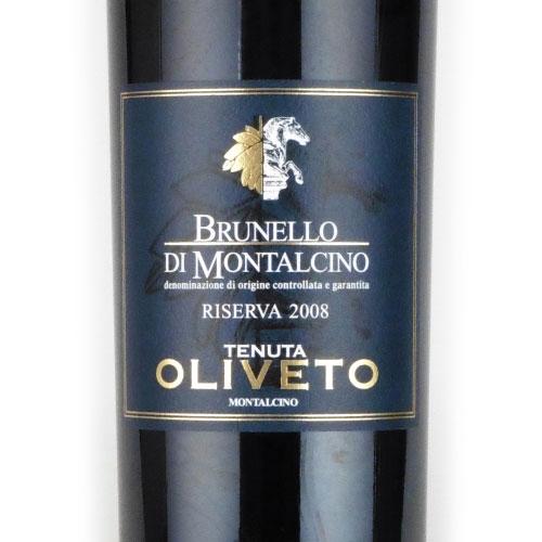 ブルネッロ・ディ・モンタルチーノ レゼルバ 2008 テヌータ・オリヴェート イタリア トスカーナ 赤ワイン 750ml