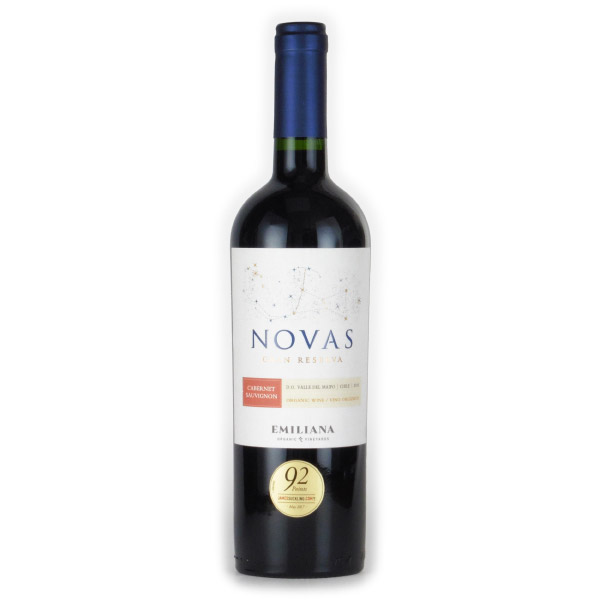 ノヴァス カベルネ・ソーヴィニヨン オーガニック 2017 エミリアーナ チリ マイポ・ヴァレー 赤ワイン 750ml