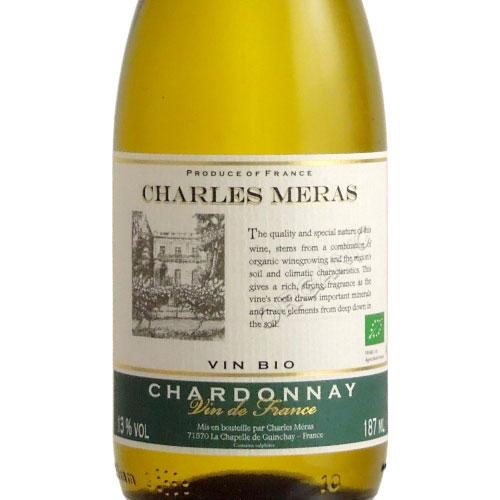 シャルル・メラ オーガニック・V.V.シャルドネ ヴァン・ドゥ・ペイ・ドック フランス ラングドック 白ワイン 187ml
