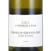 シャブリ・レ・クロ グラン・クリュ(特級) 2000 J.モロー フランス ブルゴーニュ 白ワイン 750ml