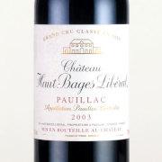 シャトー・オーバージュ・リベラル 第5級 2003 シャトー元詰 フランス ボルドー 赤ワイン 750ml