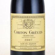 コルトン グレーヴ グラン・クリュ 2007 ルイ・ジャド フランス ブルゴーニュ 赤ワイン 750ml