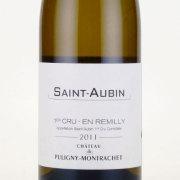 サン・トーバン・アンレミリー プルミエクリュ 2011 シャトー・ド・ピュリニー・モンラシェ フランス ブルゴーニュ 白ワイン 750ml