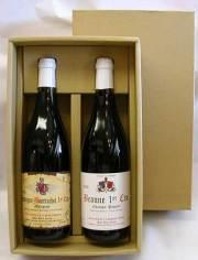 2本用ギフト箱かぶせ式(日本酒4合瓶・ワイン750ml用)