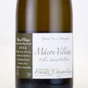 マコン ヴィラージュ クロ・サン・パンクラ 2012 ドメーヌ・フランツ・シャノロー フランス ブルゴーニュ 白ワイン 750ml