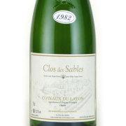 コトー・デュ・レイヨン ボーリュー 1982 クロ・デ・サブル フランス ロワール 白ワイン 750ml