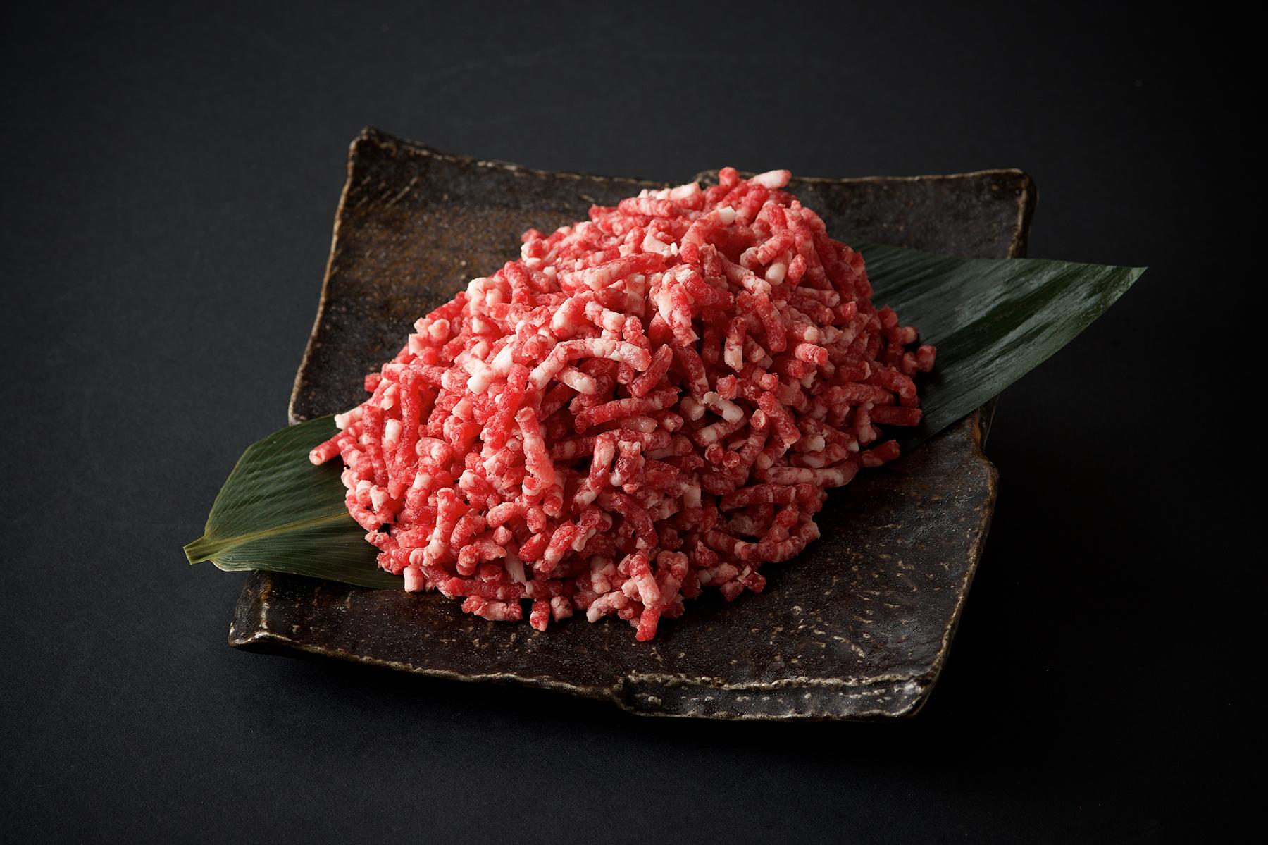 九州産黒毛和牛・黒豚 粗びき合挽ミンチ-1