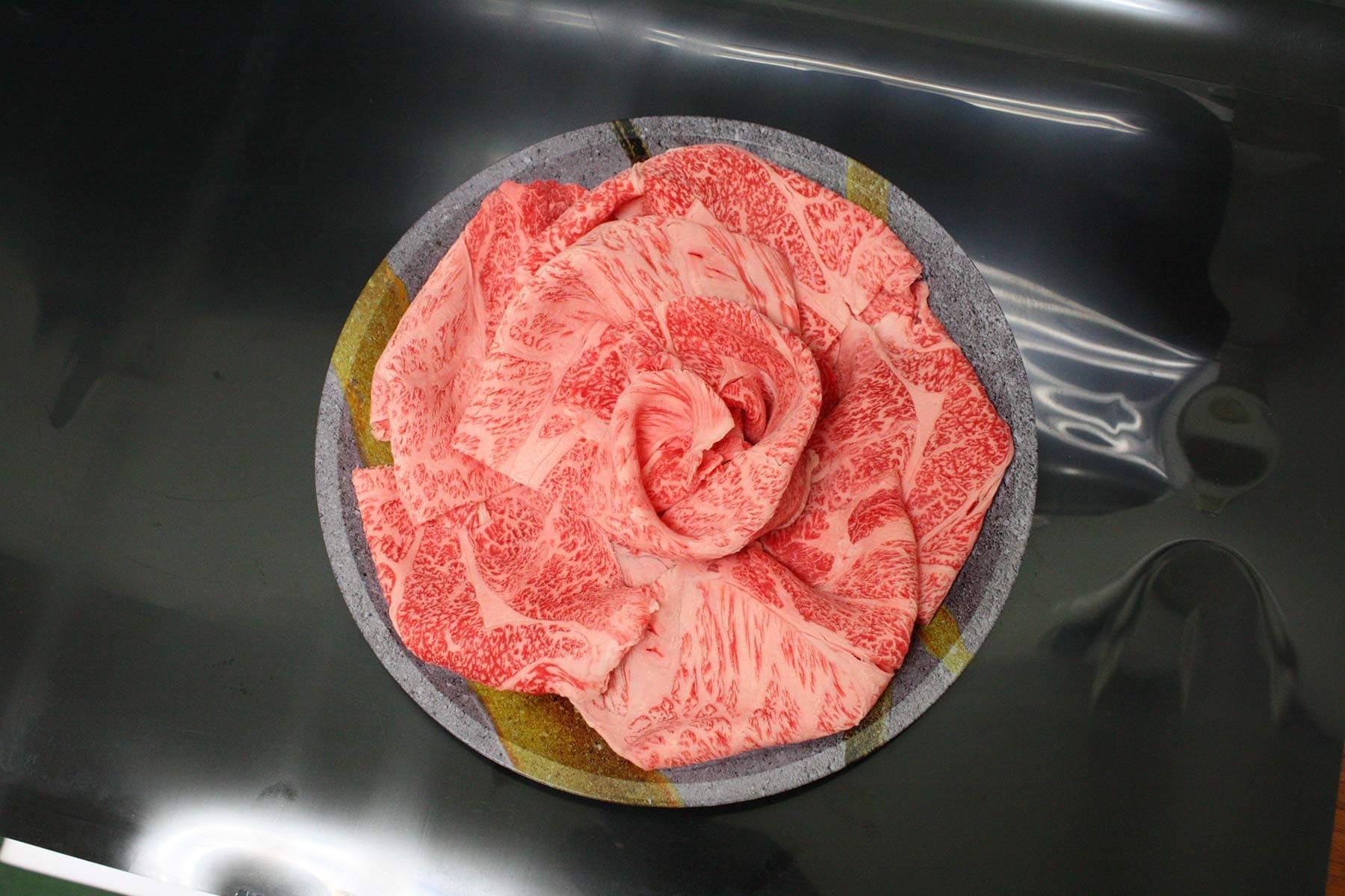 選べる皿盛りしゃぶしゃぶ/【A】:九州産黒毛和牛ロース(1皿/250g)
