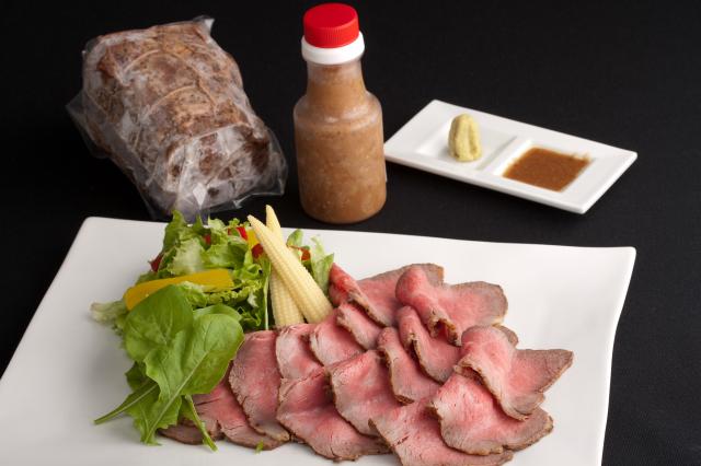 九州産黒毛和牛 自家製ローストビーフ(480g)【特製ソース付】-4