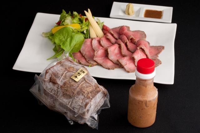 九州産黒毛和牛 自家製ローストビーフ(480g)【特製ソース付】-5