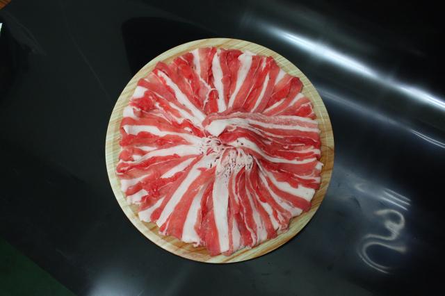 選べる皿盛りしゃぶしゃぶ/【E】:九州産豚バラ(1皿/250g)