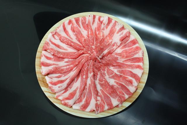 選べる皿盛りしゃぶしゃぶ/【D】:九州産豚肩ロース(1皿/250g)