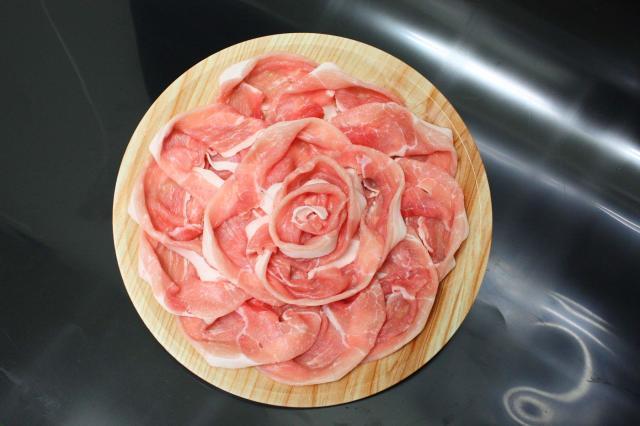 選べる皿盛りしゃぶしゃぶ/【F】:九州産豚モモ(1皿/250g)