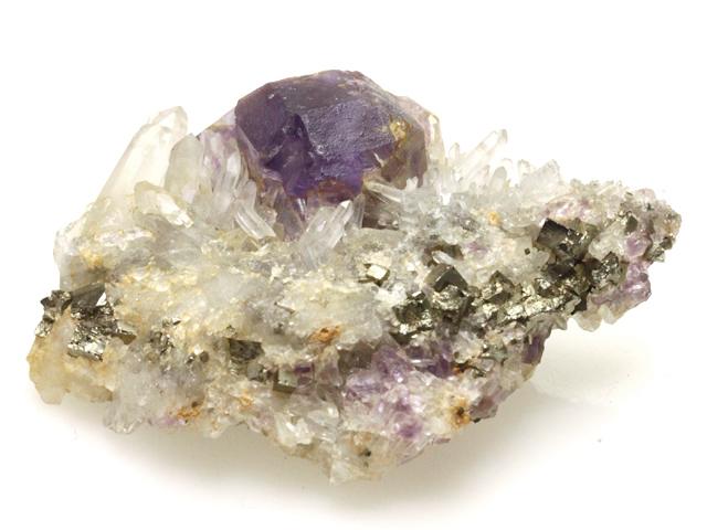 螢石と水晶と黄鉄鉱 01 メイン