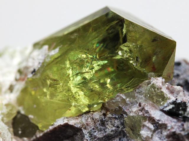 弗素燐灰石(Fluorapatite)頭付...