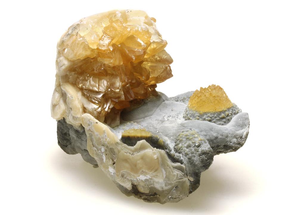 方解石に変化した二枚貝化石 118.4g 01 メイン