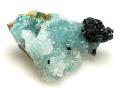 ブロシャン銅鉱と水晶とクリソコラ 01 メイン