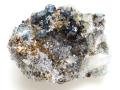 天藍石と水晶と菱鉄鉱 カナダ Rapid Creek 01 メイン