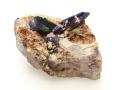 藍銅鉱 柱状結晶 モロッコKerrouchene産-01