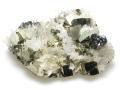 黄鉄鉱と水晶 青森県 尾太鉱山産 01 メイン