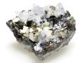 黄鉄鉱と水晶と閃亜鉛鉱 ペルー 01 メイン