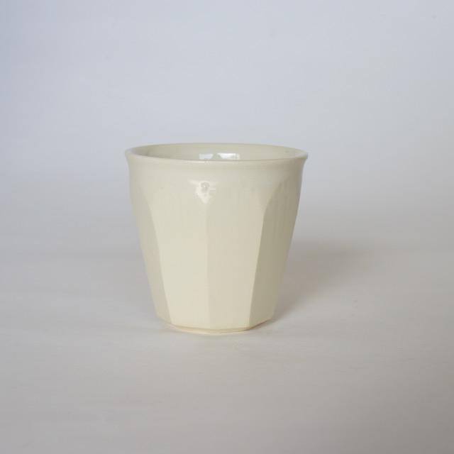 中里花子 ホワイト面取カップ 【フリーカップ】