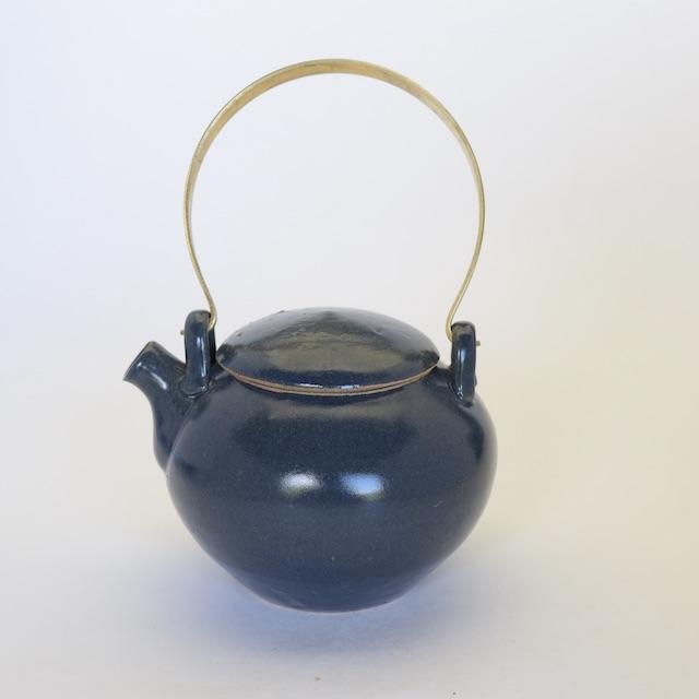 中里花子 ブルー釉土瓶