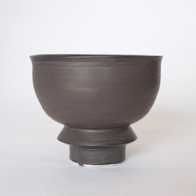 中里花子 チョコレート釉抹茶茶わん 【茶器】【茶道具】【送料無料】