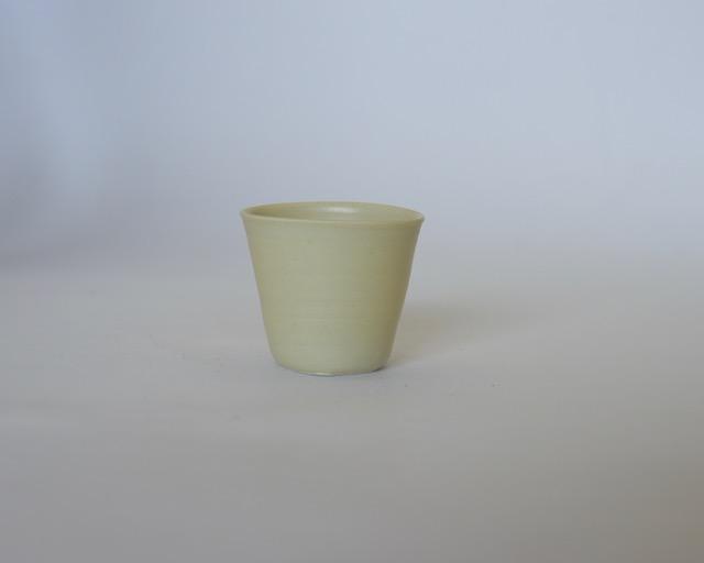 大庭一仁 黄釉リキュールカップ【ぐい呑】【盃】