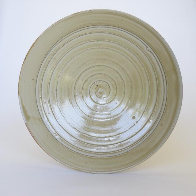 中里隆 アンダーソンランチ 灰釉筋目皿