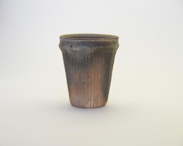 中里隆 テラシッジ線文カップ【ビアカップ】【陶器】