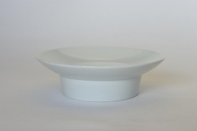 中里隆 日常のうつわ 高脚深皿 【脚付き皿】【白磁器】