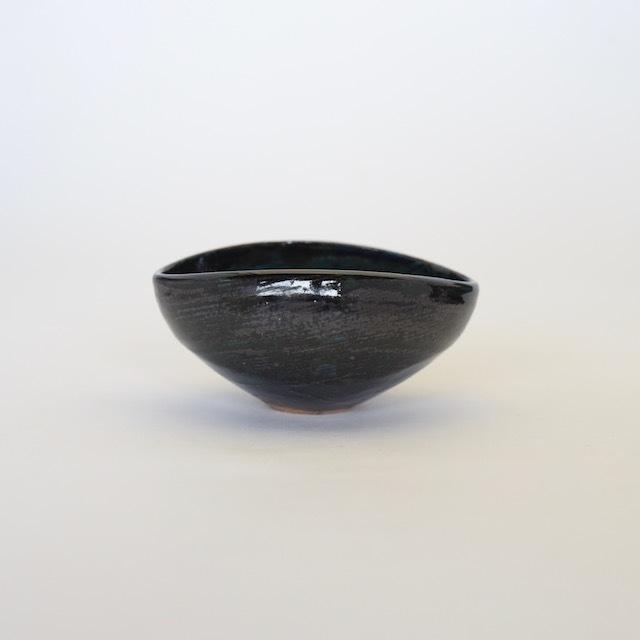 中里花子 エッグボウル ダークブルー 【楕円】【小鉢】