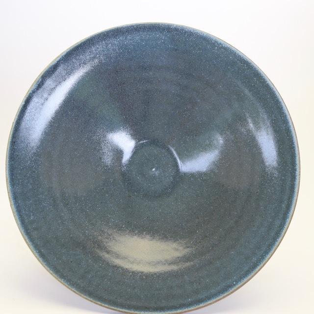 中里花子 ブルージーンダブルリップ皿 20cm